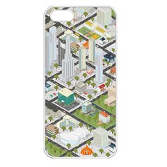 Simple Map Of The City Apple Iphone 5 Seamless Case (white)