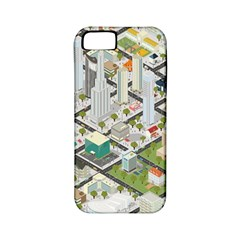 Simple Map Of The City Apple Iphone 5 Classic Hardshell Case (pc+silicone)