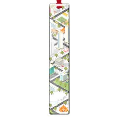 Simple Map Of The City Large Book Marks
