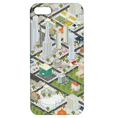 Simple Map Of The City Apple Iphone 5 Hardshell Case With Stand
