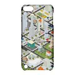 Simple Map Of The City Apple Ipod Touch 5 Hardshell Case With Stand