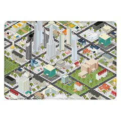 Simple Map Of The City Samsung Galaxy Tab 8 9  P7300 Flip Case