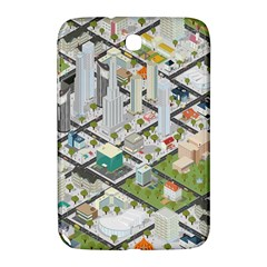 Simple Map Of The City Samsung Galaxy Note 8 0 N5100 Hardshell Case