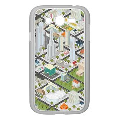 Simple Map Of The City Samsung Galaxy Grand Duos I9082 Case (white)