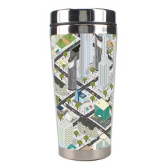 Simple Map Of The City Stainless Steel Travel Tumblers