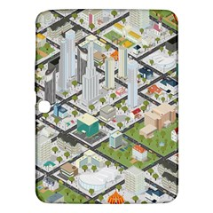 Simple Map Of The City Samsung Galaxy Tab 3 (10 1 ) P5200 Hardshell Case