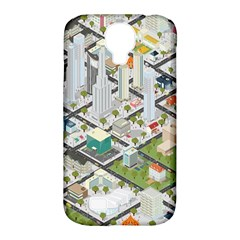 Simple Map Of The City Samsung Galaxy S4 Classic Hardshell Case (pc+silicone)
