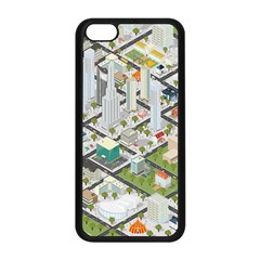 Simple Map Of The City Apple Iphone 5c Seamless Case (black)
