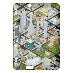 Simple Map Of The City Kindle Fire Hdx Hardshell Case
