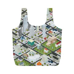 Simple Map Of The City Full Print Recycle Bags (m)