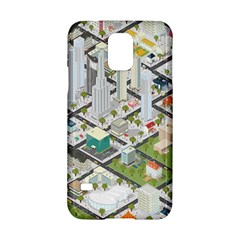 Simple Map Of The City Samsung Galaxy S5 Hardshell Case