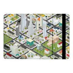 Simple Map Of The City Samsung Galaxy Tab Pro 10 1  Flip Case