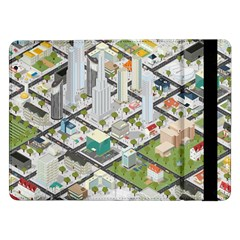 Simple Map Of The City Samsung Galaxy Tab Pro 12 2  Flip Case
