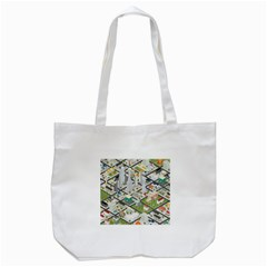 Simple Map Of The City Tote Bag (white)
