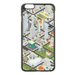 Simple Map Of The City Apple Iphone 6 Plus/6s Plus Black Enamel Case