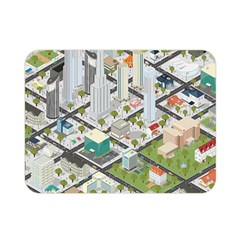 Simple Map Of The City Double Sided Flano Blanket (mini)