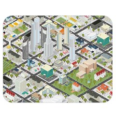 Simple Map Of The City Double Sided Flano Blanket (medium)