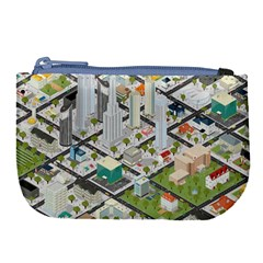 Simple Map Of The City Large Coin Purse