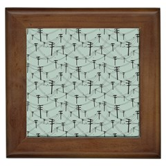 Telephone Lines Repeating Pattern Framed Tiles