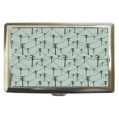 Telephone Lines Repeating Pattern Cigarette Money Cases
