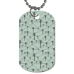 Telephone Lines Repeating Pattern Dog Tag (two Sides)
