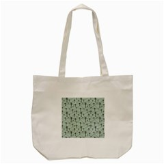 Telephone Lines Repeating Pattern Tote Bag (cream)