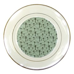Telephone Lines Repeating Pattern Porcelain Plates