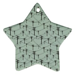 Telephone Lines Repeating Pattern Star Ornament (two Sides)