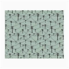 Telephone Lines Repeating Pattern Small Glasses Cloth (2 Side)