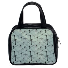 Telephone Lines Repeating Pattern Classic Handbags (2 Sides)