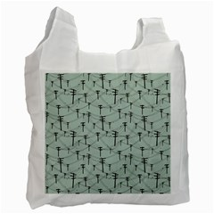 Telephone Lines Repeating Pattern Recycle Bag (one Side)