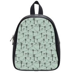 Telephone Lines Repeating Pattern School Bag (small)