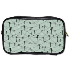 Telephone Lines Repeating Pattern Toiletries Bags