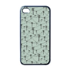 Telephone Lines Repeating Pattern Apple Iphone 4 Case (black)
