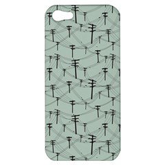 Telephone Lines Repeating Pattern Apple Iphone 5 Hardshell Case