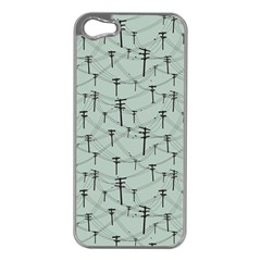 Telephone Lines Repeating Pattern Apple Iphone 5 Case (silver)