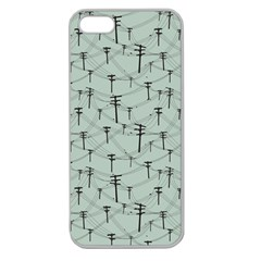 Telephone Lines Repeating Pattern Apple Seamless Iphone 5 Case (clear)