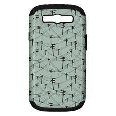 Telephone Lines Repeating Pattern Samsung Galaxy S Iii Hardshell Case (pc+silicone)
