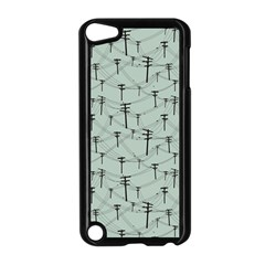 Telephone Lines Repeating Pattern Apple Ipod Touch 5 Case (black)