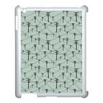 Telephone Lines Repeating Pattern Apple iPad 3/4 Case (White) Front