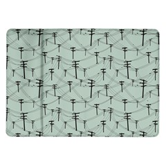 Telephone Lines Repeating Pattern Samsung Galaxy Tab 10 1  P7500 Flip Case