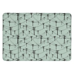 Telephone Lines Repeating Pattern Samsung Galaxy Tab 8 9  P7300 Flip Case
