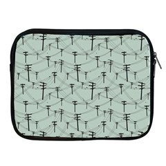 Telephone Lines Repeating Pattern Apple Ipad 2/3/4 Zipper Cases