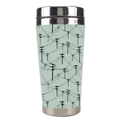 Telephone Lines Repeating Pattern Stainless Steel Travel Tumblers
