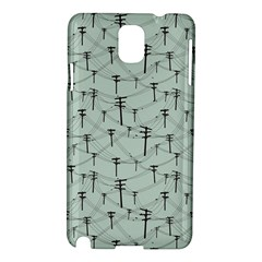 Telephone Lines Repeating Pattern Samsung Galaxy Note 3 N9005 Hardshell Case