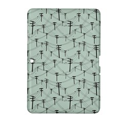 Telephone Lines Repeating Pattern Samsung Galaxy Tab 2 (10 1 ) P5100 Hardshell Case
