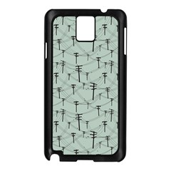 Telephone Lines Repeating Pattern Samsung Galaxy Note 3 N9005 Case (black)