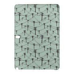 Telephone Lines Repeating Pattern Samsung Galaxy Tab Pro 10 1 Hardshell Case