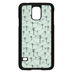 Telephone Lines Repeating Pattern Samsung Galaxy S5 Case (black)