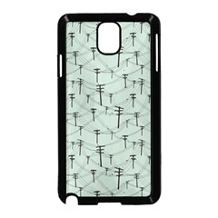 Telephone Lines Repeating Pattern Samsung Galaxy Note 3 Neo Hardshell Case (black)